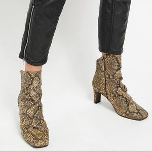Free People Snake Print Boots